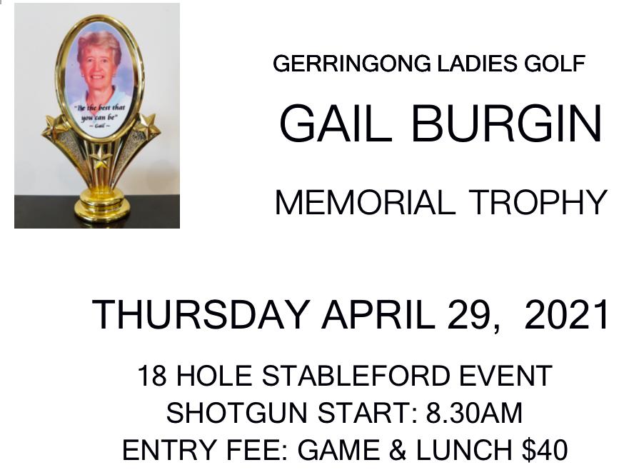 Gail Burgen Trophy 2021