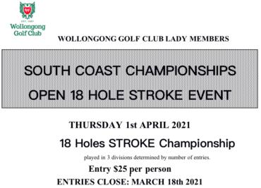 South Coast Championships 2021 at Wollongong