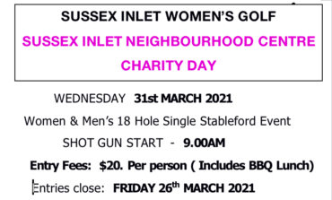 Sussex Inlet Neighbourhood Centre Charity Day Open Stableford 2021