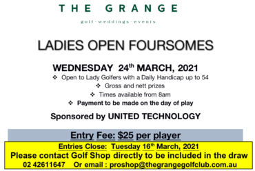 The Grange – Open Foursomes 2021