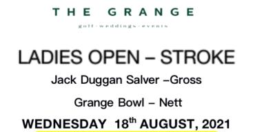 Ladies Open 2021 at The Grange