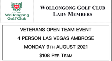 Veterans Open Event 2021 at Wollongong